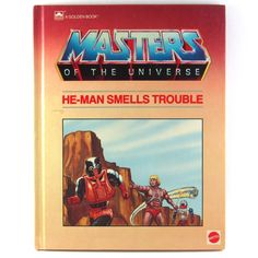 Masters of The Universe He-Man Smells Trouble, 1985 Age Range 7 to Young Teen, a Golden Book     Masters+of+The+Universe+He-Man+Smells+Trouble,+1985+Age+Range+7+to+Young+Teen,+a+Golden+Book
