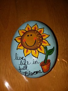 Painted rock sunflower by marci #kindnessrocks