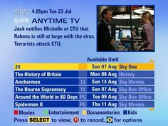 Sky launches Anytime on-demand TV | Sky has announced it's Anytime on TV on-demand service. It will be available to Sky HD subscribers initially, with latest-generation Sky Plus boxes being included in the 'coming weeks' Buying advice from the leading technology site
