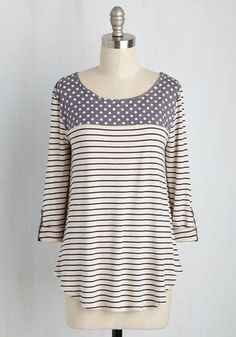 Pitter-Pattern Top, @ModCloth