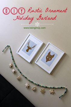 being MVP: DIY Rustic Ornament Holiday Garland #FunCraftsWithMom