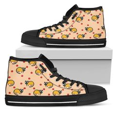 Funny Cat High Top Shoes Taco Cat Taco Pattern Or – Vota Color