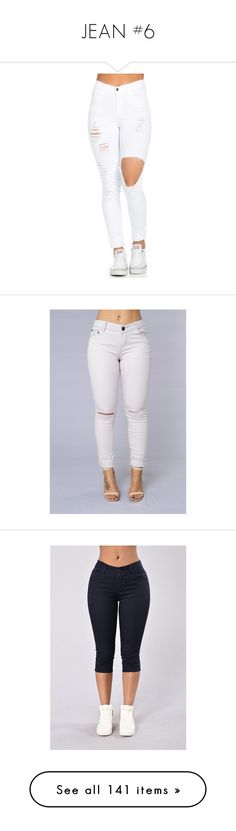 """""""JEAN #6"""" by missk2blue ❤ liked on Polyvore featuring jeans, bottoms, pants, skinny jeans, white distressed jeans, high waisted ripped skinny jeans, high waisted jeans, high-waisted jeans, capris and navy capri pants"""