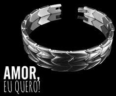 Pro namorado arrasar ao seu lado  O preço está inacreditável. Arrase! ❥ http://www.pratafina.com.br/prod/pulseira-steel-collection-23357/