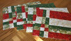 Festive Christmas Placemats Set of Four. $48.00, via Etsy.