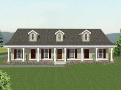 Country House Plan with 2189 Square Feet and 3 Bedrooms(s) from Dream Home Source   House Plan Code DHSW36729