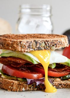 Avocado BLT's with Spicy Mayo and Fried Eggs | howsweeteats.com