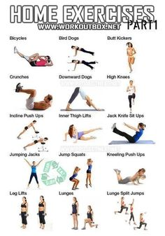 10 best home exercises images  exercise fitness tips