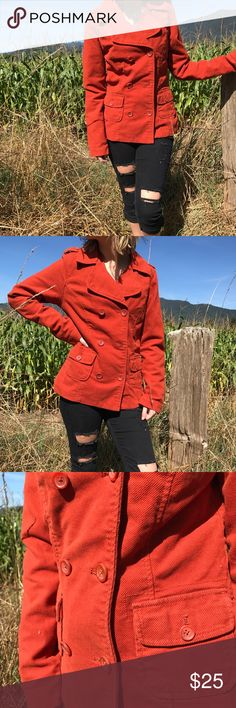 🍂Burnt Orange Button Up Coat 🍂 Basically brand new, it's been sitting in my closet and hasn't been worn other than to model with. Please feel free to make an offer! 💖 Mossimo Supply Co. Jackets & Coats