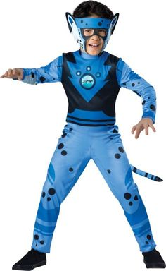Boys Blue Cheetah Muscle Costume - Wild Kratts - Party City