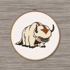 Appa the Sky Bison - from Avatar, the Last Airbender / Korra. PDF Cross Stitch Pattern by DJStitches on Etsy Mini Cross Stitch, Beaded Cross Stitch, Counted Cross Stitch Patterns, Cross Stitch Designs, Embroidery Art, Cross Stitch Embroidery, Embroidery Patterns, Perler Bead Art, Perler Beads