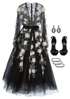 """""""I just want to hold you"""" by abbyharshman8 on Polyvore featuring Marchesa, Yves Saint Laurent, Cartier and Oscar de la Renta"""