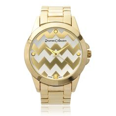 Journee Collection Round Face Chevron Print Link Watch ** Wow! I love this. Check it out now! : Designer Watches