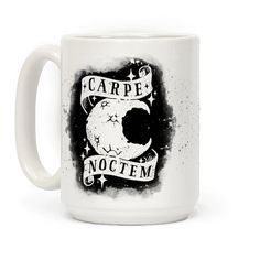 Carpe Noctem! Sieze the Night with this parody of the phrase Carpe Diem- or Sieze the Day. Perfect for night owls, insomniacs, staying up late, looking at stars, partying, getting turnt, party animals, horrific night beasts from the black abyss, and eating pizza while marathoning netflix all night long instead of tending to your responsibilities, like sleep. You should probably sleep.