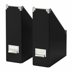 Ikea 10 Magazine Files Black / Label Holder Office New