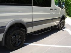Mercedes sprinter 4x4 with aluminum off road nerf bars for Mercedes benz sprinter sun visor