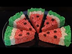 Watermelon Rice Krispies Treats - with yoyomax12 - YouTube