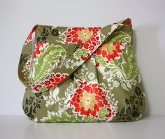 fabric...Sandi Henderson SECRET GARDEN  Party Dress in Thyme Handbag by SweetPeaTotes, $42.00