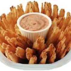 Outback Steakhouse's Blooming Onion and sauce