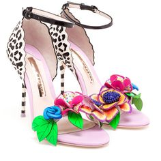 SOPHIA WEBSTER Lilico Leather Sandals ($425) ❤ liked on Polyvore