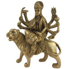 Collectible Figurines Hindu Goddess Durga Brass Statues: Amazon.co.uk: Kitchen & Home