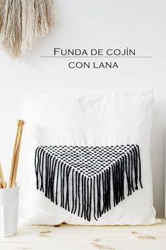 DIY: Funda de cojín con lana   Decorar tu casa es facilisimo.com