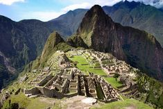 Inca: The Citadel of Machu Picchu, a vast complex of palaces, housing, plazas and agriculture terraces along the mountain.