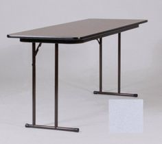 High-Pressure - Tables Off-Set Leg Seminar Table- Dove Gray by CORRELL. $288.00. The new Correll Leg design has the most leg room of any Seminar Table design on the market.Off-set legs for maximum leg room Legs are set closer to the ends allowing the people on each end to sit between the table legs instead of behind them Knife-lock folding mechanism which is attached to the back leg making underneath the table completely open and leaving nothing to interfere with the leg r...