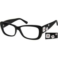 """These remind me of prada's spring /summer daisy glasses. cuteee """"A full-rim acetate women's glasses with floral carvings on the temples, accented by glittering crystals on the stigma."""""""