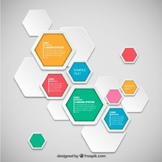 Hexagons infographic template