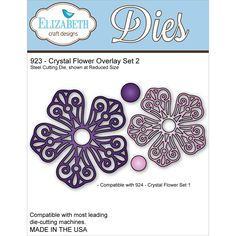 Elizabeth Craft Metal Die - Crystal Flower Overlay Set 2 - Click to enlarge