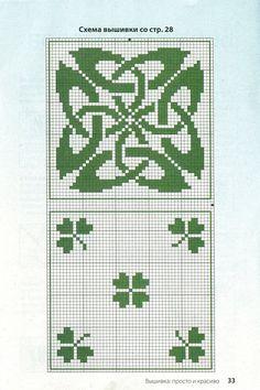 Celtic biscornu pattern