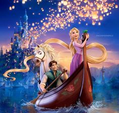 Rapunzel and Flynn from Tangled