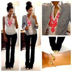 Pop up color necklace style casual, casual chic, casual wear, look fashion, Hello Gorgeous Blog, Affordable Work Clothes, Trendy Work Clothes, Look Girl, Business Casual Outfits, Business Attire, Casual Office Attire, Business Chic, Business Women