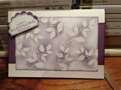 Card made with Stampin' Up! Wisteria Wonder and Perfect Plum ink and Summer Silhouette stamp set. moonsongdesigns.wordpress.com