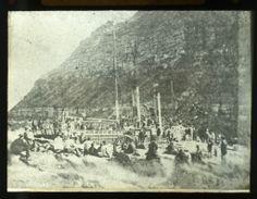 """1878 Wreck of """"City of Newcastle"""" below Shepherds Hill near Bogey Hole Baths"""