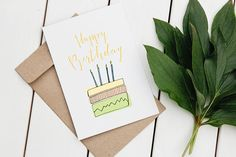 Happy Birthday Card handletter printable