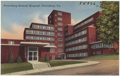 Petersburg General Hospital, Petersburg, Virginia #artdeco #architecture -- Attended nursing school here