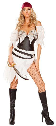 Roma 3pc Classy Pirate Brocade Jacker w// Lace Up Corset Deluxe Costume 4649