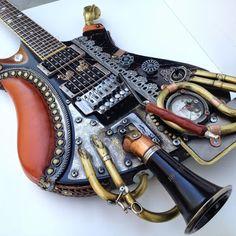 Steampunk Guitar Custom Made by Carlos4728