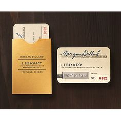 BEST librarian business cards ever! I want them.