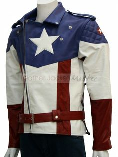 Captain America : Captain America: The First Avenger Biker Style Celebrities Leather Jacket - Leather Jacket Master