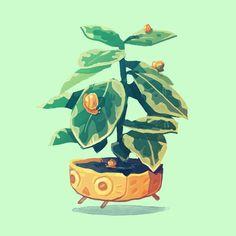 Plant Illustration, Botanical Illustration, Grey Art, Plant Drawing, Plant Art, Illustrations, Character Design Inspiration, Cute Drawings, Cute Art