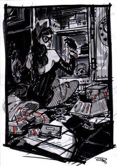 Denis Medri: 50's Catwoman (50's Rockabilly Batman)