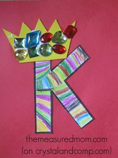 Crafts for Letter K – The Measured Mom Find 7 letter K crafts for preschoolers! Preschool Letter Crafts, Alphabet Letter Crafts, Abc Crafts, Kindergarten Crafts, Toddler Crafts, Letter Tracing, Stick Crafts, Kindergarten Classroom, King Craft
