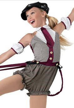 Love this look for a tap routine, musical theater or possibly jazz! Reminds me of Newsies