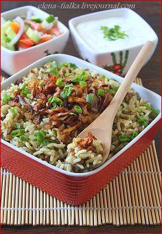 Кухня народов мира - Мжаддара Mjaddara (рис с чечевицей и жаренным луком)