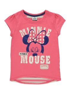 Minnie Mouse T-shirt Girls George at Asda Mickey Y Minnie, Minnie Mouse Pink, Disney Outfits, Disney Clothes, Screen Printing Shirts, Bnf, Cute Girl Outfits, Disney Girls, Baby Wearing