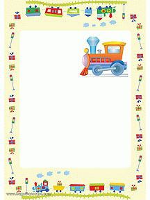 Petit train, papier à lettre à imprimer