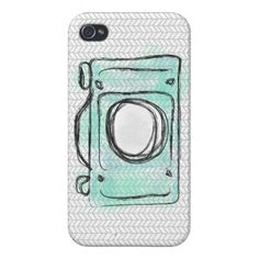 Herringbone Watercolor Camera iPhone Case Case For iPhone 4